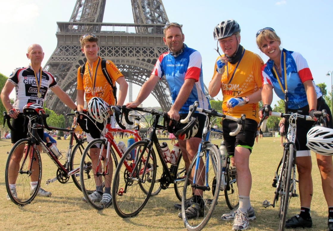 London to Paris. Cycle Challenge